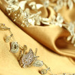 Background of golden fabric — Stock Photo #7657905