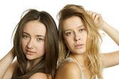 Two beautiful young women — Stock Photo