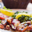 Grilled calamari closeup — Stock Photo