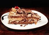 Tasty chocolate cake (shallow dof) — Stock Photo