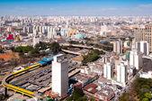 Bus terminal in park Dom Pedro, Sao Paulo — Stock Photo