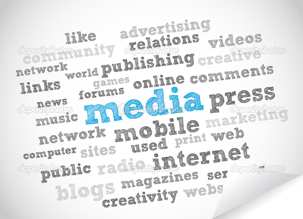 Media and Press vector background — Stock Photo #6747257