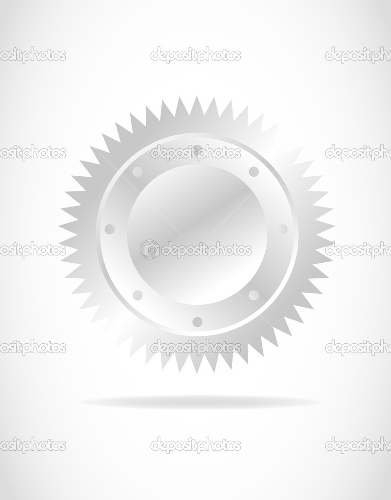 Silver seal vector background — Stock Vector #6747681