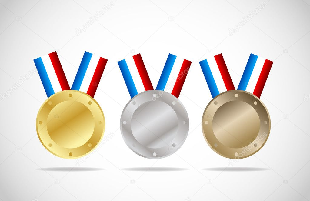 Gold,silver and bronze medals vector background  Stock Vector #6749608