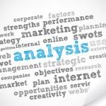 Analysis tag cloud — Stock Vector