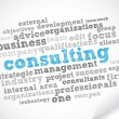 Consulting tag cloud — Stock Vector
