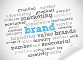 Brand word cloud — Stock Vector