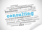 Tag-cloud consulting — Stockvektor