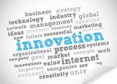Innovation tag cloud — Stock Vector