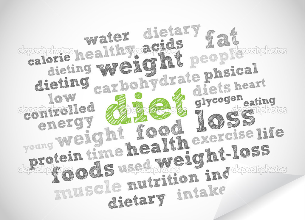 Diet word cloud vector background — Stock Vector #6851474