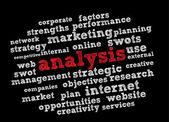 Analysis word cloud — Stock Vector