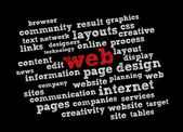 Web Word Cloud — Stock Vector