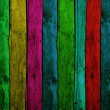 Colorful Wood Planks - Stock Photo