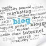 Blog word cloud — Stock Vector #6914995
