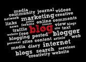 Blog word cloud_2 — Stock Vector