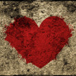 Grunge heart on the wall — Stock Photo