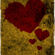 Grunge hearts background — Foto de Stock