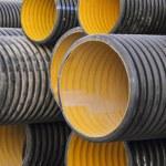 Plastic pipes — Stock Photo