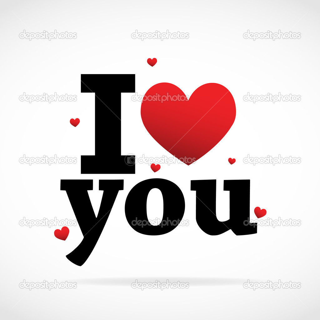 I Love you vector background — Stock Vector #7190245