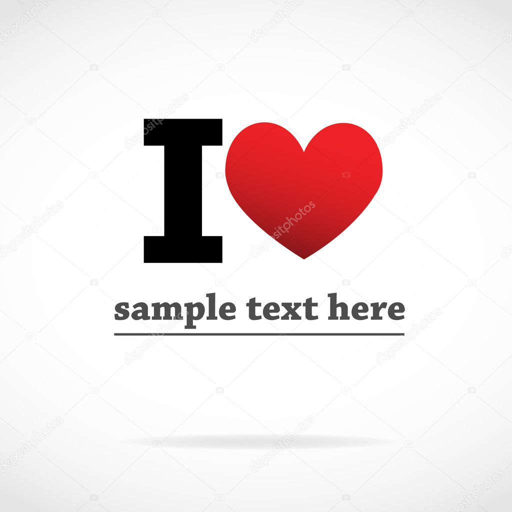 I Love symbol vector background  Stock Vector #7202100