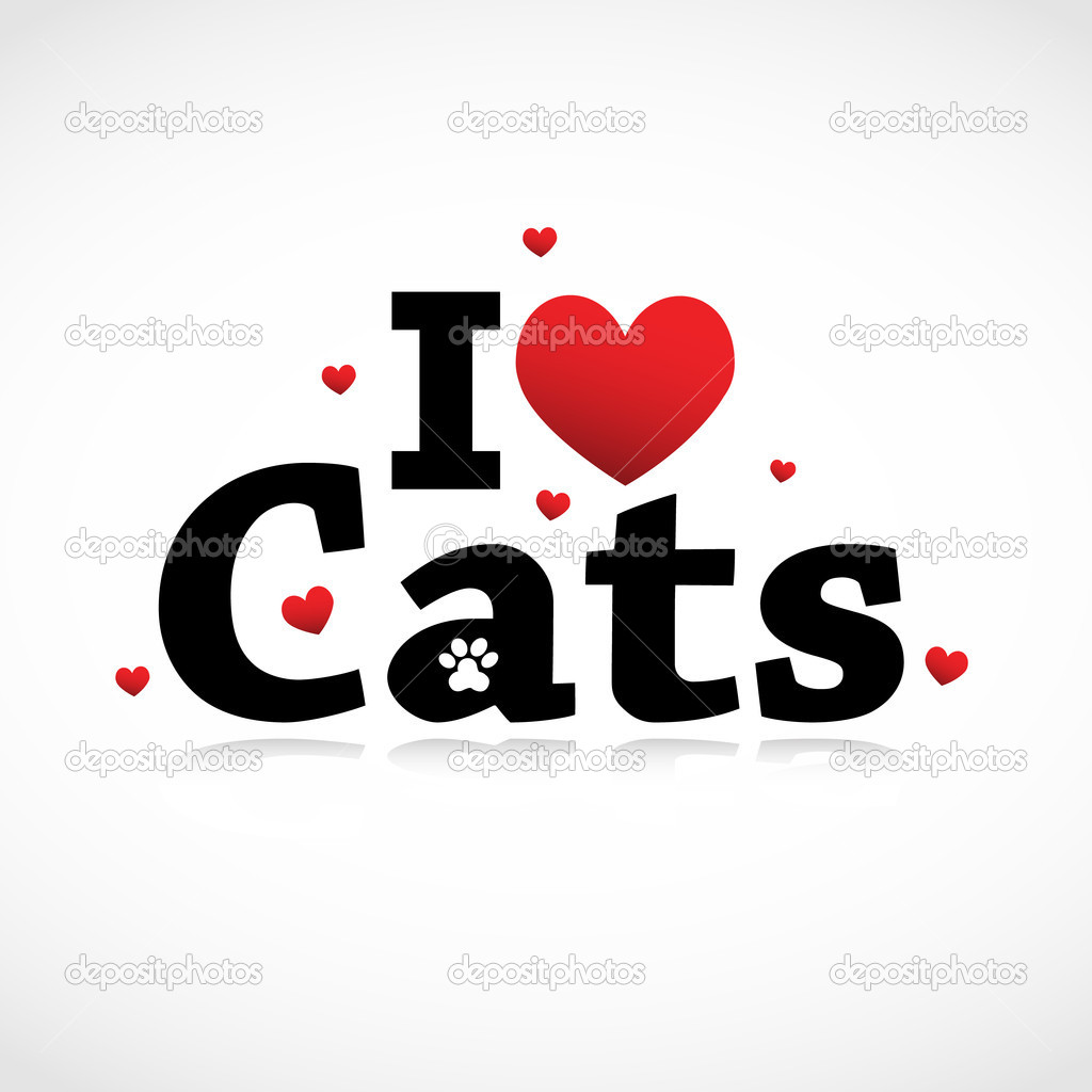 I Love Cats icon vector background — Stock Vector #7216198