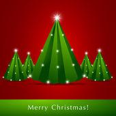 Vector Christmas Trees — Stock Vector