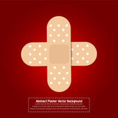 Crossed Band aids vector background — Stock Vector