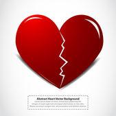 Red broken heart — Stock Vector