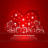 Absract background with hearts — Stock Vector