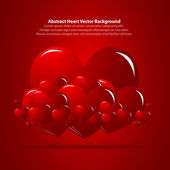 Red Background with Hearts — Stock Vector