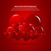 Czerwone tło z serca — Wektor stockowy