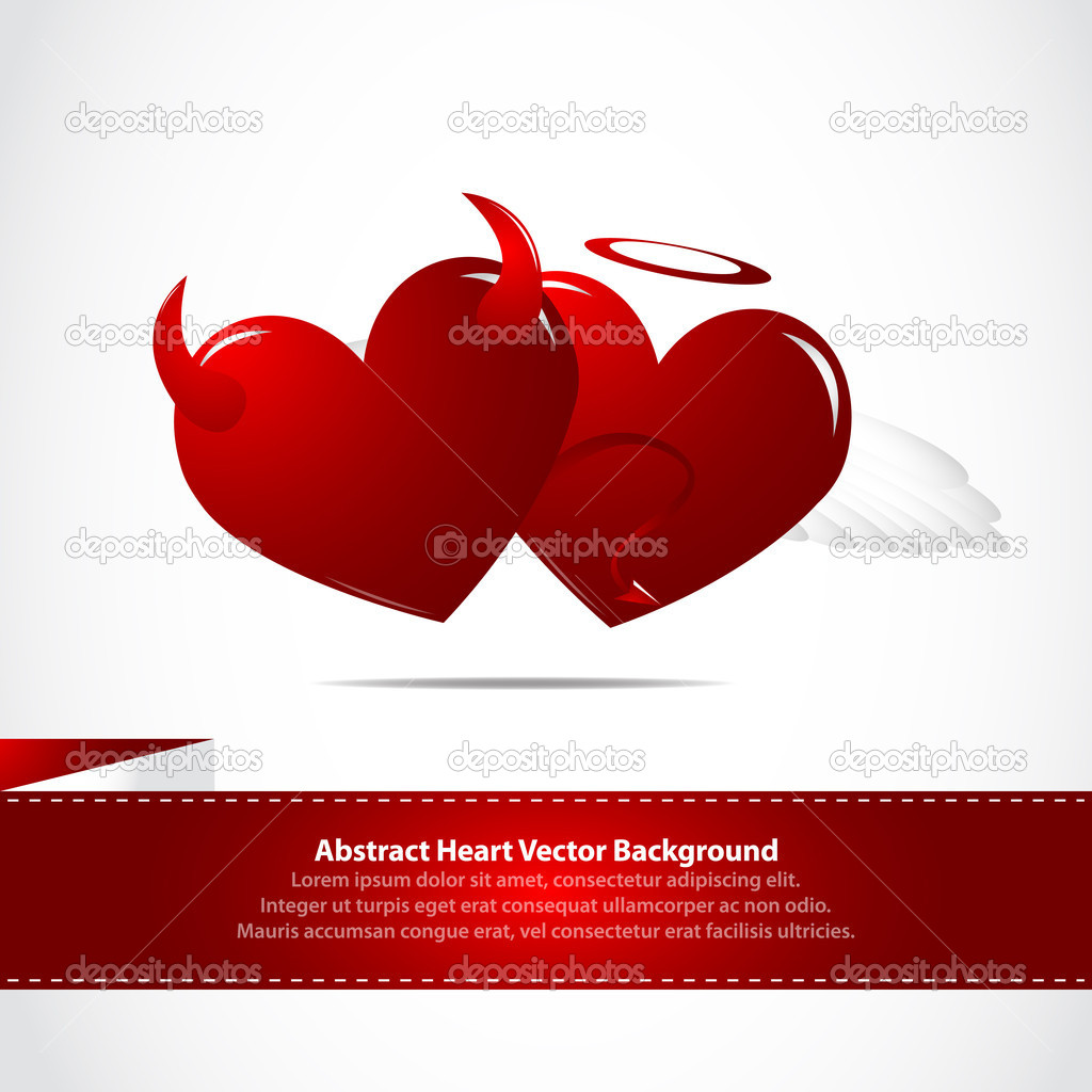 Heart of good and evil vector background — Stock Vector #7941343