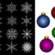 Christmas decorations. — Stock Vector