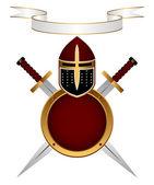 Armor knight. — Stock Vector