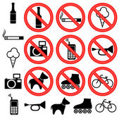 Prohibitory signs. — Stock Vector