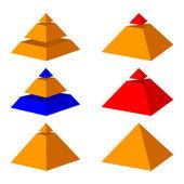 Pyramids. — Vector de stock