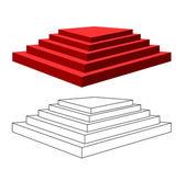 Pirámide con pasos. — Vector de stock