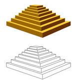 Dwie piramidy. — Wektor stockowy