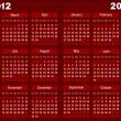 暗赤色のカレンダー — ストックベクタ
