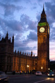 Big Ben at sunset London UK — Stock Photo