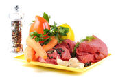 Fresh vegetables and beef — Foto de Stock
