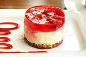 Cheesecake with strawberries — Stock Photo