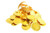 Lot of gold coins — Photo