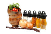 Fresh vegetables, spice and onions — Stockfoto