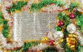 Christmas frame — Stockfoto