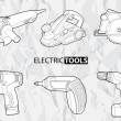 Electric tools — Stock Vector