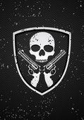 Skull badge — Stock Vector