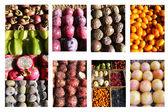 Collage vruchten — Stockfoto