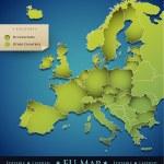 Vector Europe map with European Union (EU) countries — Stock Vector #7793720