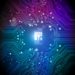 Royalty-Free Stock Vektorfiler: Circuit board vector background